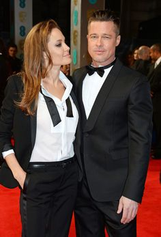 Angelina Jolie only had eyes for Brad Pitt when they walked the 2014 BAFTA Awards red carpet.