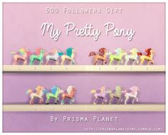Rainbow pony toys at Prisma Planet • Sims 4 Updates