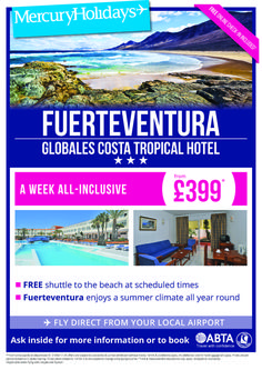 Fuerteventura from £399 per person AI local airport departures Fantastic Summer climate all year round, call 0800 975 7584 for more info