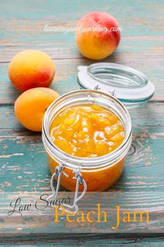 Low Sugar Peach Jam is part of Low Sugar How To Make Peach Jam Fresh Preserving Store - If summer had a taste, it would be peaches! Preserving that taste in low sugar peach jam means you can delight in that taste all winter long Peach Freezer Jam, Freezer Jam Recipes, Canning Recipes, Peach Jelly, Homemade Jelly, Jam And Jelly, Fruits And Veggies, Vegetables, Real Food Recipes