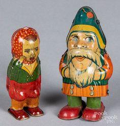 Chein tin lithograph wind-up walking Santa Claus
