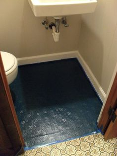 how to paint tile floors - a tutorial - Love Stitched ((I am looking ...