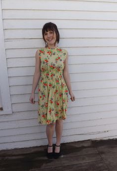 Floral Dress Summer Hippie Mod 70s Vintage Smocked Sleeveless Soft XS by soulrust on Etsy https://www.etsy.com/listing/225762832/floral-dress-summer-hippie-mod-70s