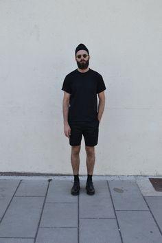 alkarus: Moscot sunglass Our legacy tee Balenciaga short Grenson shoes