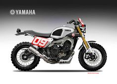 "Motosketches: YAMAHA XSR 900 DIRTIEST SON ""SANTANA"""