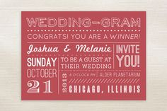 WeddingGram Wedding Invitations