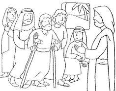 David and Mephibosheth Coloring Page   Children's Bible ...