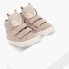 LEATHER BASKETBALL BOOTS WITH SQUIRREL DESIGN - Shoes - Baby girl (3 months - 4 years) - KIDS | ZARA United Kingdom