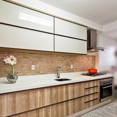 New Kitchen Cabinets Makeover Melamine 36 Ideas Kitchen Room Design, Kitchen Cabinet Design, Modern Kitchen Design, Home Decor Kitchen, Interior Design Kitchen, Kitchen Furniture, Home Kitchens, Small Modern Kitchens, Cocinas Kitchen