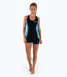 Be An Athlete Ladies Colour Block Vest - Black/Blue. Shop at FIT and Flirty http://fitandflirty.com/Shop-By-Designer/Be-An-Athlete-Shop-By-Designer/ladies-colour-block-vest-black-blue