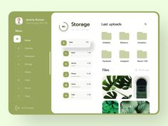 Storage Dashboard - Clean UI designed by Ruslan Bakhar. Connect with them on Dribbble; Site Portfolio, Portfolio Design, Dashboard Ui, Dashboard Design, Apps, Web Ui Design, Graphic Design, Ui Design Inspiration, Ui Web