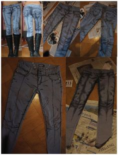 Amazing Cel Shaded Style Jeans  via: fashionablygeek.com
