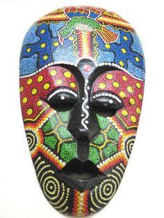 African Mask Tiki Mask Tribal Bali Art Mask - African Mask Cake Idea