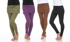 Soft stretch leggings create the illusion of a two-piece skirt set with the ease of only one piece Skirt Leggings, Pants, Two Piece Skirt Set, One Piece, Comfortable Outfits, Street Chic, What To Wear, Fashion Outfits, Clothes For Women