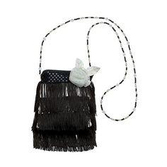 Flapper Handbag Black, Women's ($13) ❤ liked on Polyvore featuring costumes, black, halloween, flapper halloween costumes, adult flapper costume, adult ladies halloween costumes, womens flapper halloween costumes and ladies costumes