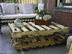 Industrial Pallet Coffee Table DIY