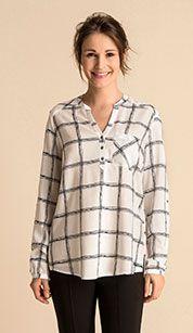 Blusa en azul / blanco Diy Clothes, My Style, Long Sleeve, Sleeves, Mens Tops, Shopping, Women, Fashion, Blue Blouse