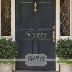 Personalized House Address Number:  Ever wander around a neighborhood craning your neck to find an address on a house? Make finding your castle easier with this decorative front door sign that is personalized with your home's street number and boost your curb appeal. The sizes listed here are perfect for standard exterior doors, however we do strongly recommend that you measure your door before selecting your size. See more unique designs at www.lacybella.com