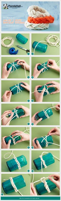This rope bracelet tutorial is to teach you a fast-to-learn way about DIY bracelet merely with rope and cylinder.