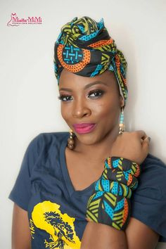 African head wrap African clothing African fabric by BoutiqueMix