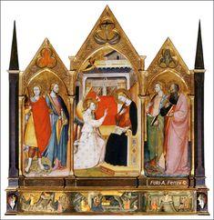 Bicci di Lorenzo (Firenze, 1368 circa – Arezzo 1452), Polittico dell' Annunciazione. Opera datata 1414. Pieve di Santa Maria Assunta a Stia in Casentino.