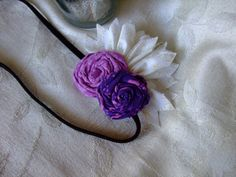 Lavender and Purple Rolled Flowers Stretch by BeadLovinCreations