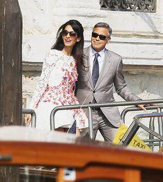 La felicidad de George Clooney y Amal Alamuddin tras su gran boda italiana - Foto 1