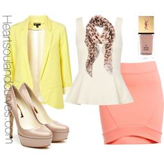 """""""Pastel Colorblocking (Part 1)"""" by adoremycurves on Polyvore"""