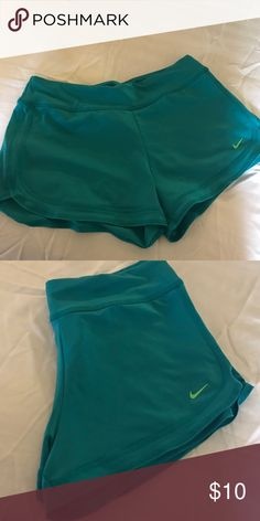 Nike Aqua Shorts Nike Shorts excellent for running , used once and are in excellent condition . I don't have animals or smoke . Nike Shorts