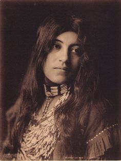 Kaw-U - Native American woman ca. 1910s by George Cornish