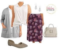 Affordable Plus-Size Outfits for Fall - Plum Skirt