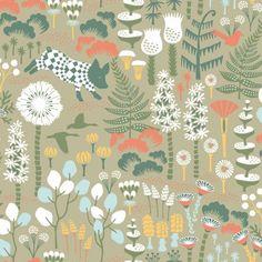 Borastapeter Hoppmosse Wallpaper - 1451 - Wonderland by Hanna Werning Collection Botanical Wallpaper, Green Wallpaper, Wallpaper Roll, Swedish Wallpaper, Animal Wallpaper, Wallpaper Samples, Pattern Wallpaper, Brewster Wallpaper, Wallpaper Warehouse