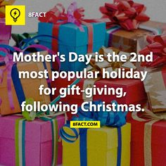 Mother's Day is the second most popular holiday for gift-giving following Christmas
