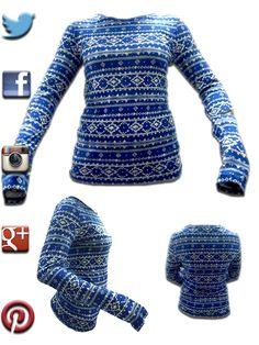 Blusa Azul de manga larga disponible en talla S 0412-804-5653 ó info@lenelshop.com compra aqui ―►http://goo.gl/74mmY2