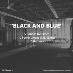 5 Rounds for Time: 10 Power Cleans (135/95 lbs); 10 Burpees