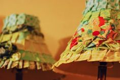 crafty chicness, great way to redo some old buffet lamps or those cheapy DG ones