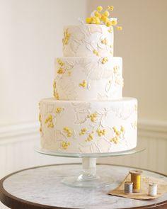 Delicate French Silk Wedding Cake