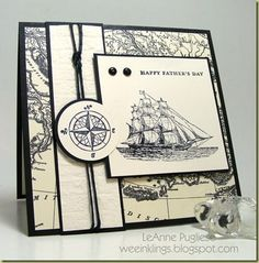 Fathers Day card using The Open Sea stamp set, along with Very Vanilla and Night of Navy.  I love the color combo!