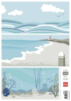 Ak0067 Eline's Backgrounds - Ocean