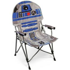 This R2-D2 wants nothing more than to help you comfortably sit while on the go. He'll come camping, or to fan conventions, or to watch the fireworks on the 4th of July. This fully licensed Lucasfilm collectible is only found at ThinkGeek!