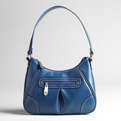 New Treviso Women's Mini Hobo Organizer Handbag Blue