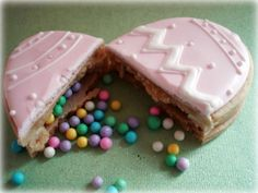Easter Egg Cookies Filled with Candy |