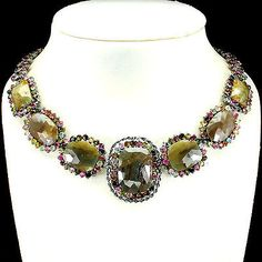 SPECIAL-ITEM-NATURAL-SAPPHIRE-TOURMALINE-STERLING-925-SILVER-NECKLACE-HANDMADE