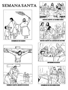 Imágenes para Semana Santa: Frases, Mensajes, Palabras y Dibujos para Colorear | Mejores imágenes Catholic Crafts, Catholic Kids, Kids Church, Bible Story Crafts, Bible Stories, Jesus Is Risen, Religion Catolica, Bible Coloring Pages, Les Religions
