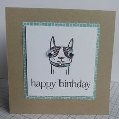 This card's main image comes from Catslife Press, and the sentiment is from Papertrey Ink.  Who can resist an image that practically screams for googly eyes??