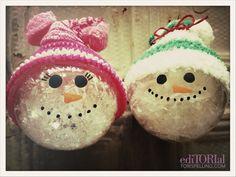 DIY Snowglobe Snowmen