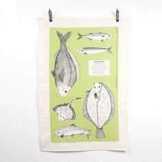 'From The Sea' Screen Printed Tea Towel - cooking & food preparation
