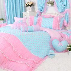 Pastel pink / pastel blue fairy kei kawaii bedroom