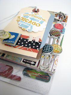 On the Go Travel Journal/Album Kit by @Lara Medina on Etsy, $22.50
