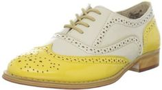 Wanted Shoes Women's Babe Oxford Shoe: Lace-up wingtip shoe featuring pinking-trimmed overlays with allover broguing and medallion toe Stacked heel Saddle Oxfords, Wingtip Shoes, Women's Oxfords, Loafers For Women, Shoes Women, Sneakers Fashion, Fashion Boots, Shoes Online, Me Too Shoes